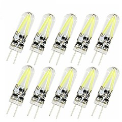 10pcs 2W G4 LED Bi-pin Lights 2 LEDs COB LED Lights Warm White Cold White 150lm 2200-6500K AC/DC 12V