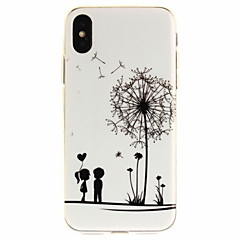 voordelige iPhone 5 hoesjes-hoesje Voor Apple iPhone X iPhone 8 iPhone 8 Plus iPhone 5 hoesje iPhone 6 iPhone 7 Ultradun Transparant Patroon Achterkant Spelen met