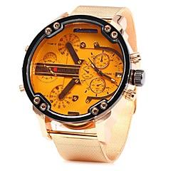 preiswerte Tolle Angebote auf Uhren-JUBAOLI Herrn Armbanduhr Chinesisch Cool / Großes Ziffernblatt Edelstahl Band Rotgold