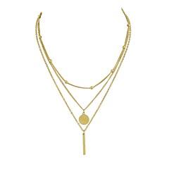 abordables Bijoux pour Femme-Femme Collier multi rangs - simple, Basique Or, Argent Colliers Tendance Bijoux 3 Pour Rendez-vous, Plein Air