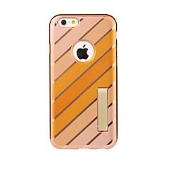 Недорогие Кейсы для iPhone 6-Кейс для Назначение iPhone 6s iPhone 6 Apple iPhone 6 со стендом Чехол Полосы / волосы Мягкий ТПУ для iPhone 6s iPhone 6