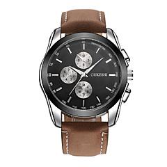 preiswerte Tolle Angebote auf Uhren-Herrn Quartz Armbanduhr Chinesisch Wasserdicht Leder Band Freizeit Modisch Schwarz Braun