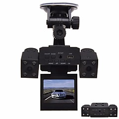 Недорогие Автоэлектроника-1280 x 480 Автомобильный видеорегистратор Широкий угол 2 дюймовый Капюшон с Ночное видение 8 инфракрасных LED Автомобильный рекордер