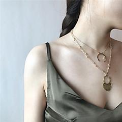 Women's Vintage Multi Layer Pendant Necklace Statement Necklace , Alloy Pendant Necklace Statement Necklace , Vintage Multi Layer Daily
