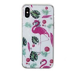 Недорогие Кейсы для iPhone X-Кейс для Назначение Apple iPhone X iPhone 8 IMD С узором Кейс на заднюю панель Фламинго Сияние и блеск Мягкий ТПУ для iPhone X iPhone 8