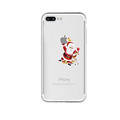 Недорогие Кейсы для iPhone 7-Кейс для Назначение Apple iPhone 8 iPhone 8 Plus Защита от удара Полупрозрачный С узором Кейс на заднюю панель Композиция с логотипом