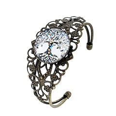 billige Armbånd-Dame Manchetarmbånd , Sødt Tegneserie Mode Glas Legering Cirkelformet Smykker Aftenselskab Karneval