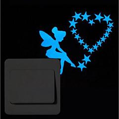 お買い得  ステッカー&デカール-動物 人物 ウォールステッカー プレーン・ウォールステッカー スイッチステッカー, ビニール ホームデコレーション ウォールステッカー・壁用シール スイッチ