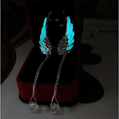 cheap Luminous Jewelry-Women's Drop Earrings - Wings, Angel Wings Ladies, Fashion, Luminous Jewelry Light Blue For Daily Bar / 2pcs