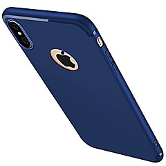 voordelige iPhone-hoesjes-Voor iPhone X iPhone 8 iPhone 7 iPhone 7 Plus iPhone 6 Hoesje cover Mat Achterkantje hoesje Effen Kleur Zacht Siliconen voor Apple iPhone