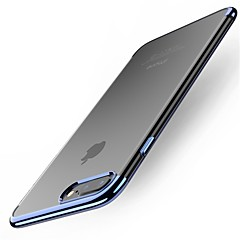voordelige iPhone 7 Plus hoesjes-hoesje Voor Apple iPhone X iPhone 8 Plus Beplating Achterkant Effen Kleur Zacht TPU voor iPhone X iPhone 8 Plus iPhone 8 iPhone 7 Plus