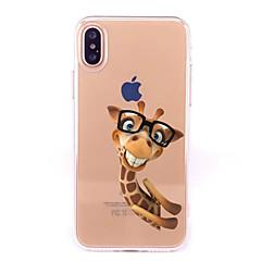 Uyumluluk iPhone X iPhone 8 Kılıflar Kapaklar Şeffaf Temalı Arka Kılıf Pouzdro Karton Yumuşak TPU için Apple iPhone X iPhone 8 Plus