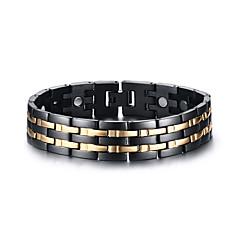 voordelige armband-Heren Armbanden met ketting en sluiting Klassiek Modieus Roestvast staal Lijnvorm Sieraden Feest