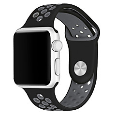cheap New Arrivals-Watch Band for Apple Watch Series 3 / 2 / 1 Apple Wrist Strap Sport Band Silicone