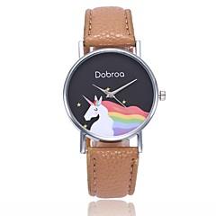 preiswerte Tolle Angebote auf Uhren-Damen Quartz Armbanduhr Chinesisch Armbanduhren für den Alltag PU Band Freizeit Böhmische Cool Schwarz Weiß Blau Rot Orange Grün Rosa