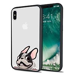 Недорогие Кейсы для iPhone 6-Кейс для Назначение Apple iPhone X iPhone 8 Plus С узором Кейс на заднюю панель С собакой Мягкий ТПУ для iPhone X iPhone 8 Pluss iPhone 8