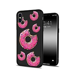 Недорогие Кейсы для iPhone X-Кейс для Назначение Apple iPhone X / iPhone 8 Plus С узором Кейс на заднюю панель Продукты питания Мягкий ТПУ для iPhone X / iPhone 8 Pluss / iPhone 8