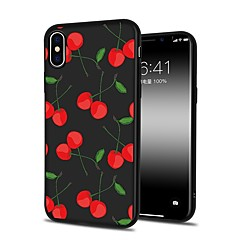 hoesje Voor Apple iPhone X iPhone 8 Plus Patroon Achterkantje Cartoon Fruit Zacht TPU voor iPhone X iPhone 8 Plus iPhone 8 iPhone 7 Plus