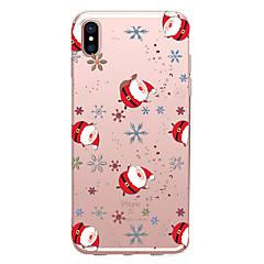 Недорогие Кейсы для iPhone 7-Кейс для Назначение Apple iPhone X / iPhone 8 Прозрачный / С узором Кейс на заднюю панель Рождество Мягкий ТПУ для iPhone XS / iPhone XR / iPhone XS Max