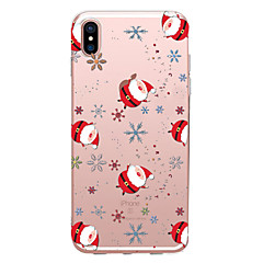 Недорогие Кейсы для iPhone 6 Plus-случай для яблока iphone x xs xr xsmax / iphone 8 прозрачный / шаблон back cover рождественский мягкий tpu для iphone xs / iphone xr / iphone xs max