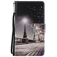 Недорогие Чехлы и кейсы для Huawei Mate-Кейс для Назначение Huawei Mate 9 Mate 10 Бумажник для карт Кошелек со стендом Флип Магнитный С узором Чехол Вид на город Твердый Кожа PU