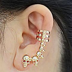 Χαμηλού Κόστους Σκουλαρίκια-Ανδρικά Γυναικεία Κουμπωτά Σκουλαρίκια Χειροπέδες Ear Στρας Ευρωπαϊκό Etnic Μοντέρνα Κράμα Κρανίο Κοσμήματα Βραδινό Πάρτυ Απόκριες