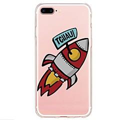 お買い得  iPhone 5S/SE ケース-ケース 用途 Apple iPhone X iPhone 8 Plus パターン バックカバー Appleロゴアイデアデザイン ワード/文章 カートゥン ソフト TPU のために iPhone X iPhone 8 Plus iPhone 8 iPhone 7 Plus