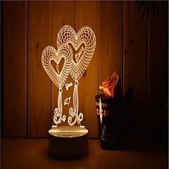 preiswerte Ausgefallene LED-Beleuchtung-1set 3D Nachtlicht Wärm Weiß USB angetrieben Abblendbar Menschlicher Körper Sensor Farbwechsel