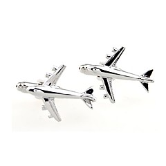 cheap Cufflinks-Silver Cufflinks Copper Airplane Formal / Simple Men's Costume Jewelry For Daily / Formal