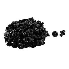abordables Herramientas y Aparatos de Coche-50 piezas 14 x 6 mm parachoques de plástico negro guardabarros forro retenedor retenedor
