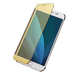 Χαμηλού Κόστους Άλλες θήκες / καλύμματα για Samsung-tok Για Samsung Galaxy J7 (2017) J5 (2017) Επιμεταλλωμένη Καθρέφτης Ανοιγόμενη Συμπαγές Χρώμα Σκληρή για