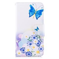 Недорогие Чехлы и кейсы для Xiaomi-Кейс для Назначение Xiaomi Redmi 5 Plus Redmi Примечание 5A Бумажник для карт Кошелек со стендом Флип Магнитный Чехол Бабочка Цветы