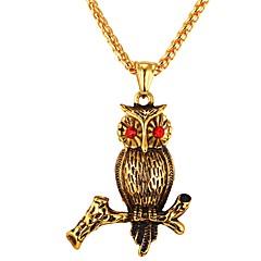 Муж. Сова Cool Ожерелья с подвесками Цирконий Нержавеющая сталь Ожерелья с подвесками , Повседневные