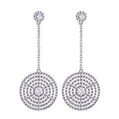 preiswerte Ohrringe-Damen Kubikzirkonia Tropfen-Ohrringe - Zirkon Grundlegend Silber Für Geburtstag Geschenk