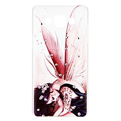 voordelige Galaxy A3 Hoesjes / covers-hoesje Voor Samsung Galaxy A5(2016) A3(2016) Strass Patroon Reliëfopdruk Achterkant Sexy dame Cartoon Hard PC voor A3 (2017) A5 (2017) A7