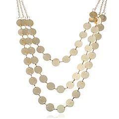 abordables Collares-Mujer Forma de Círculo Forma Geométrica Moda De Gran Tamaño Collares de cadena Collares en capas , Mineral de hierro Collares de cadena