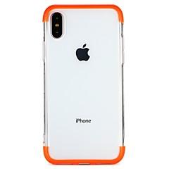 Недорогие Кейсы для iPhone 7 Plus-Кейс для Назначение Apple iPhone 6 iPhone 7 Полупрозрачный Кейс на заднюю панель Сплошной цвет Прозрачный Мягкий ТПУ для iPhone X iPhone