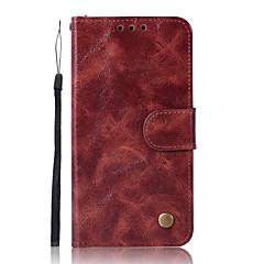 Недорогие Чехлы и кейсы для Xiaomi-Кейс для Назначение Xiaomi Redmi Примечание 5A Бумажник для карт Кошелек со стендом Флип Чехол Сплошной цвет Твердый Кожа PU для Xiaomi