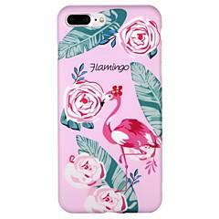 Недорогие Кейсы для iPhone 6-Кейс для Назначение Apple iPhone 6 iPhone 7 IMD С узором Кейс на заднюю панель Фламинго Цветы Мультипликация Мягкий ТПУ для iPhone X