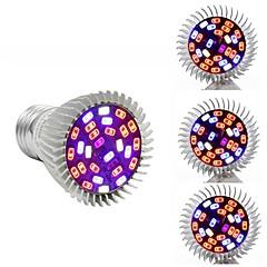 preiswerte LED-Birnen-4pcs 7W 800-1200lm E26 / E27 Wachsende Glühbirne 40 LED-Perlen SMD 5730 Weiß Infrarotstrahl UV (Schwarzlicht) Blau Rot 85-265V