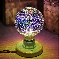 お買い得  LED 電球-1個 5 W 450 lm E26 / E27 LEDボール型電球 / フィラメントタイプLED電球 G95 28 LEDビーズ 集積LED 装飾用 / 星の / 3D花火 マルチカラー 85-265 V / RoHs