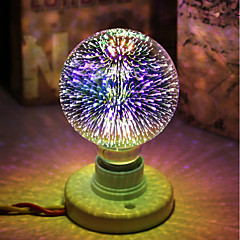 preiswerte LED-Birnen-1pc 5 W 450 lm E26 / E27 LED Kugelbirnen / LED Glühlampen G95 28 LED-Perlen Integriertes LED Dekorativ / sternenklar / 3D Feuerwerk Mehrere Farben 85-265 V / RoHs