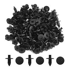 preiswerte Gadgets & Autoteile-100 stücke schwarz 7mm auto stoßstange push-style pin clips kunststoff niet trim verschluss