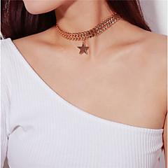 お買い得  ネックレス-女性用 星形 ドレスウェア ファッション チョーカー ペンダント , 合金 チョーカー ペンダント 、 日常 新年