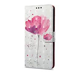 Недорогие Чехлы и кейсы для Huawei Mate-Кейс для Назначение Huawei Mate 10 pro Mate 10 lite Бумажник для карт Кошелек со стендом Флип Магнитный С узором Чехол Цветы Твердый Кожа