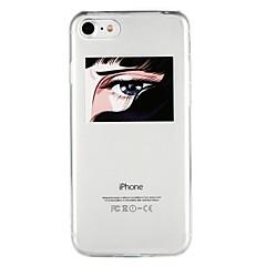 Недорогие Кейсы для iPhone 6-Кейс для Назначение Apple iPhone 6 iPhone 7 Полупрозрачный С узором Рельефный Кейс на заднюю панель Геометрический рисунок Мягкий ТПУ для