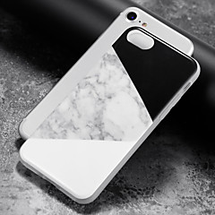 abordables Fundas para iPhone 5S / SE-Funda Para Apple iPhone 8 / iPhone 8 Plus / iPhone 7 IMD Funda Trasera Mármol Suave TPU para iPhone 8 Plus / iPhone 8 / iPhone 7 Plus