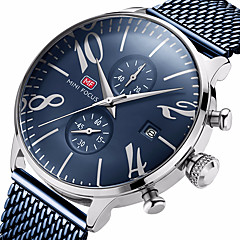 cheap Watch Deals-MINI FOCUS Men's Quartz Wrist Watch Chinese Calendar / date / day Water Resistant / Water Proof Casual Watch Stopwatch Stainless Steel