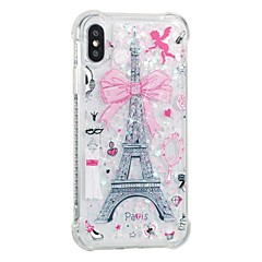 abordables Fundas para iPhone 5c-Funda Para Apple iPhone X iPhone 8 Antigolpes Líquido Diseños Funda Trasera Torre Eiffel Suave TPU para iPhone X iPhone 8 Plus iPhone 8