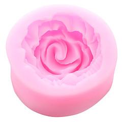 お買い得  ベイキング用品&ガジェット-小さなバラの花のシリコーンケーキ金型の婚約指輪のツール